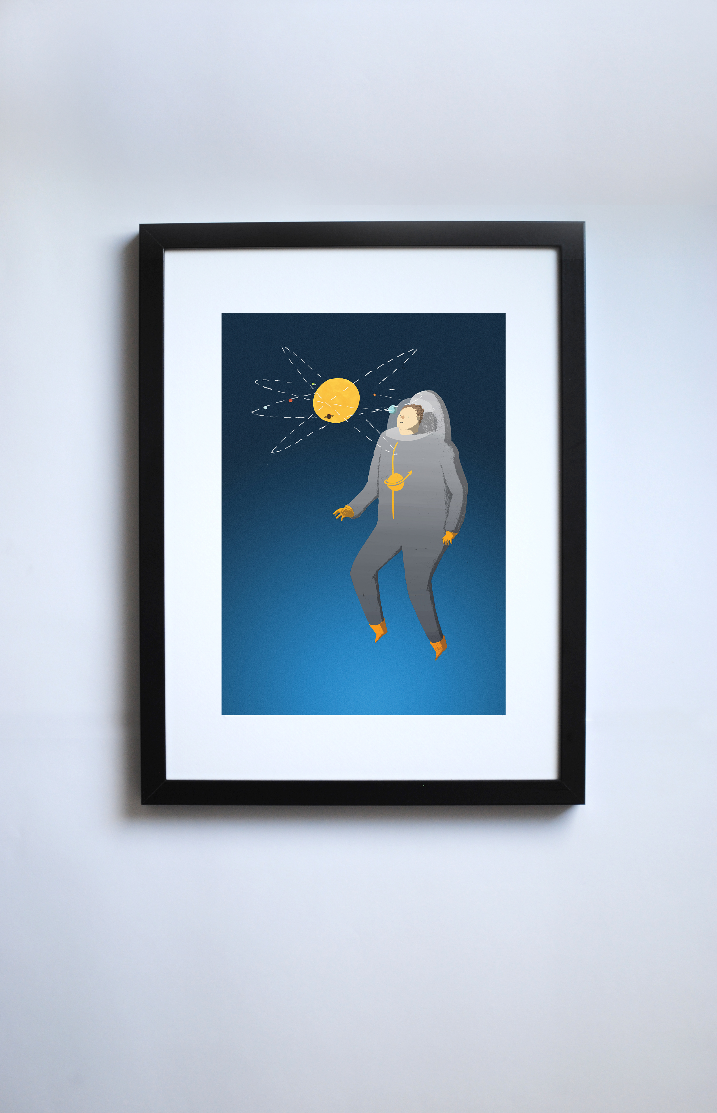 Spaceman in frame