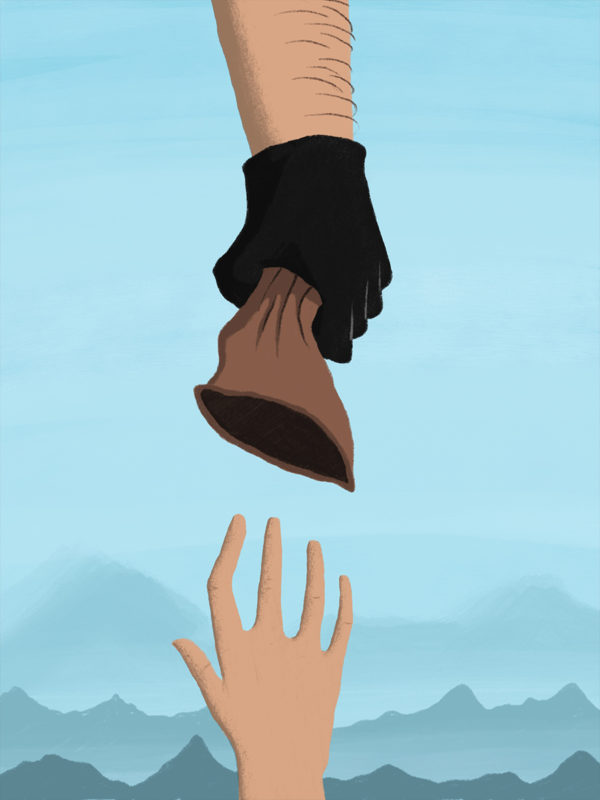 leeds illustration illustrator andy carter cliffhanger film poster mountain climber falling