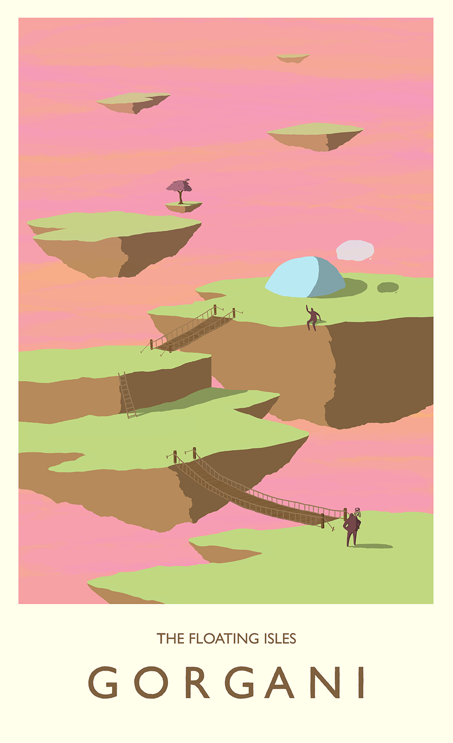 leeds illustration illustrator andy carter space travel poster planet with floating islands