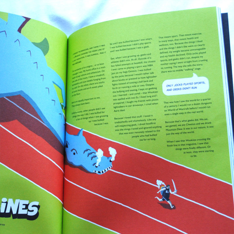 leeds illustration illustrator andy carter running with dragons