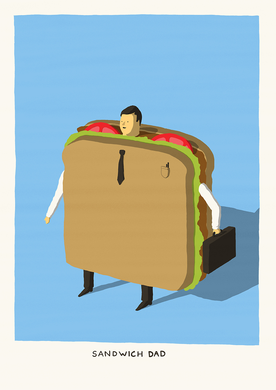 leeds illustration illustrator andy carter sandwich dad surreal funny