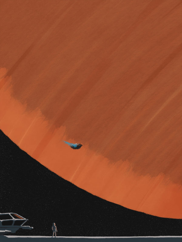 leeds illustration illustrator andy carter astronaut looking up at planet star citizen