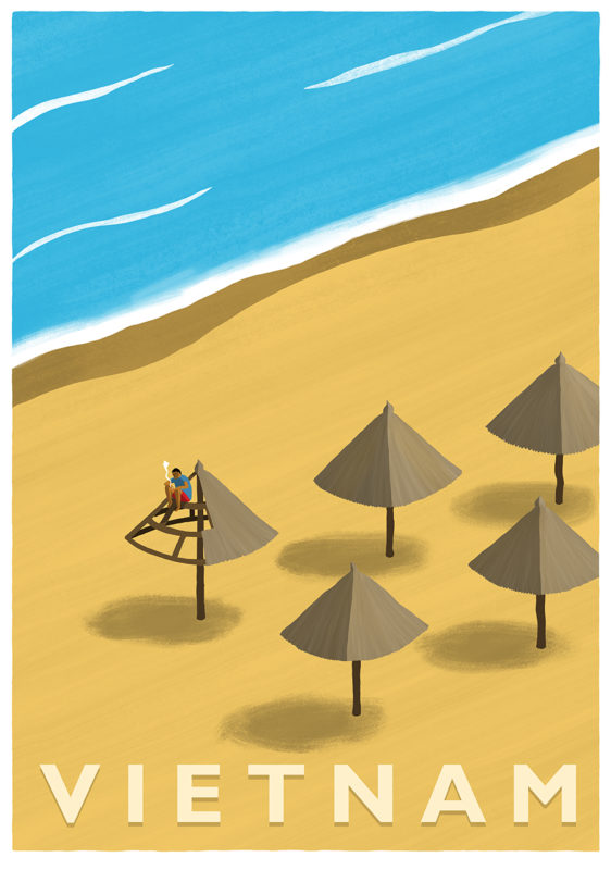 leeds illustration illustrator andy carter vietnam beach