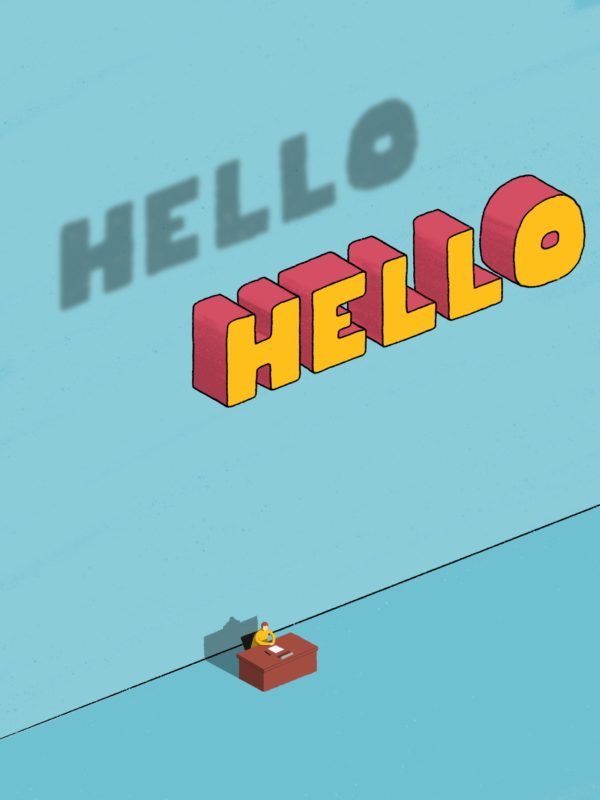 Leeds illustration illustrator hello greeting funny