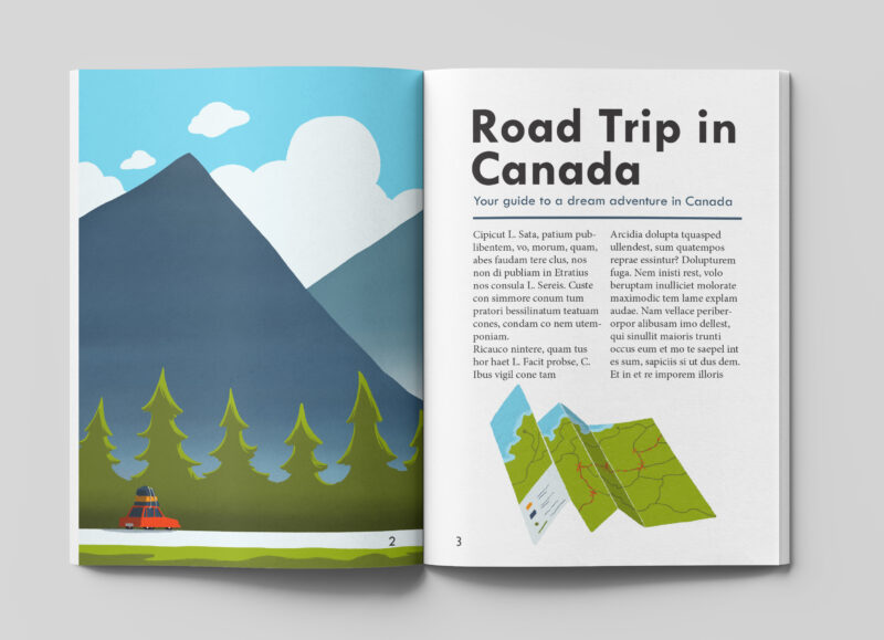 leeds illustration tips on road trip in canada
